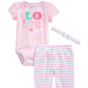 6 or 9 Months Baby Girls Love Outfit